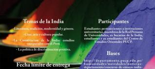 afiche concurso ensayo India 2016